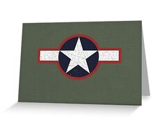 Vintage Look US Forces Roundel 1943 Greeting Card