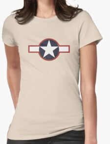 Vintage Look US Forces Roundel 1943 Womens Fitted T-Shirt