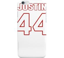 NFL Player Justin Rogers fortyfour 44 iPhone Case/Skin