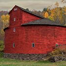 Red Round Barn by Deborah  Benoit