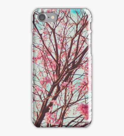 Bloosom Tree with Pink Flowers iPhone Case/Skin