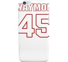 NFL Player Waymon James fortyfive 45 iPhone Case/Skin