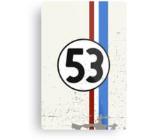 Vintage Look 53 Car Race Number Graphic Metal Print