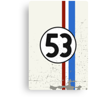 Vintage Look 53 Car Race Number Graphic Canvas Print