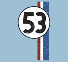 Vintage Look 53 Car Race Number Graphic Kids Clothes