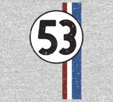 Vintage Look 53 Car Race Number Graphic One Piece - Long Sleeve