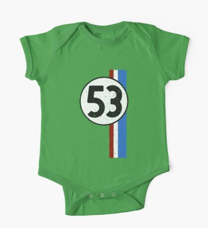 Vintage Look 53 Car Race Number Graphic One Piece - Short Sleeve