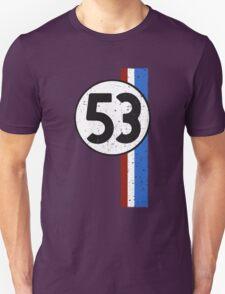 Vintage Look 53 Car Race Number Graphic Unisex T-Shirt