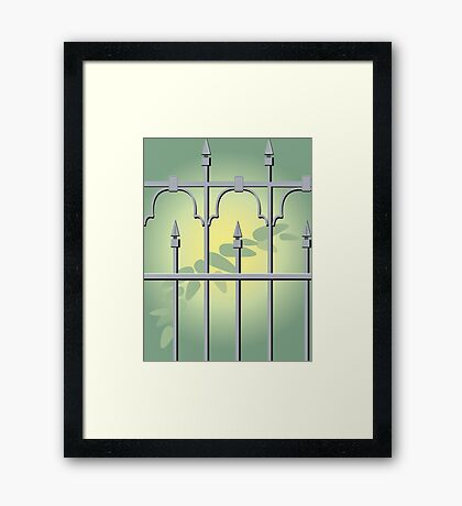 Iron Fencing Framed Print