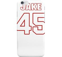 NFL Player Jake Doughty fortyfive 45 iPhone Case/Skin