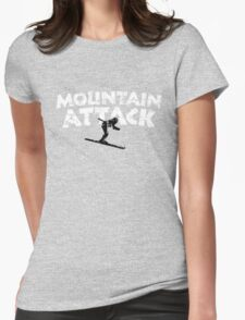 Mountain Attack Winter Sports Ski Design (B&W) Womens Fitted T-Shirt