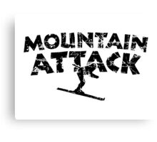 Mountain Attack Winter Sports Ski Design (Black) Canvas Print