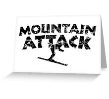 Mountain Attack Winter Sports Ski Design (Black) Greeting Card