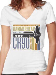 Hammerhead Corvette Women's Fitted V-Neck T-Shirt