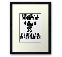 Funny Lifting Gym Framed Print