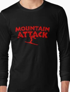 Mountain Attack Winter Sports Ski Design (Red) Long Sleeve T-Shirt