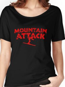 Mountain Attack Winter Sports Ski Design (Red) Women's Relaxed Fit T-Shirt