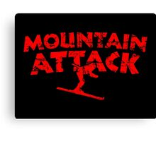 Mountain Attack Winter Sports Ski Design (Red) Canvas Print