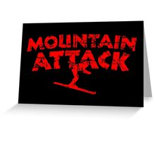 Mountain Attack Winter Sports Ski Design (Red) Greeting Card