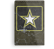 Vintage Look US Army Star Logo  Metal Print