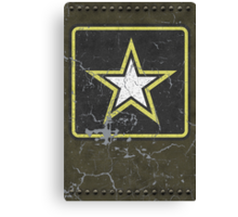 Vintage Look US Army Star Logo  Canvas Print