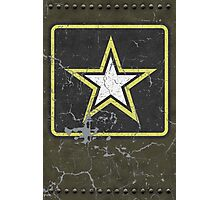 Vintage Look US Army Star Logo  Photographic Print