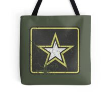 Vintage Look US Army Star Logo  Tote Bag