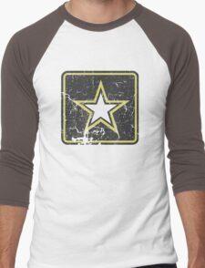 Vintage Look US Army Star Logo  Men's Baseball ¾ T-Shirt