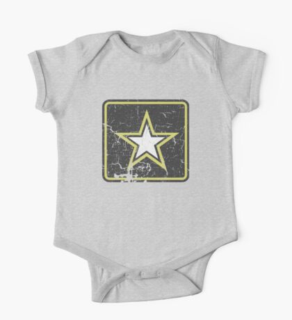 Vintage Look US Army Star Logo  One Piece - Short Sleeve