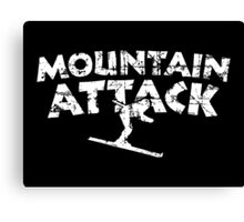 Mountain Attack Winter Sports Ski Design (White) Canvas Print