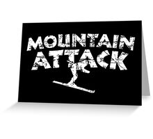 Mountain Attack Winter Sports Ski Design (White) Greeting Card