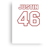 NFL Player Justin Cole fortysix 46 Canvas Print