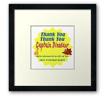 Captain Dinosaur Framed Print
