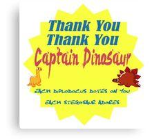 Captain Dinosaur Canvas Print