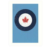 Vintage Look WW2 Royal Canadian Air Force Roundel Art Print