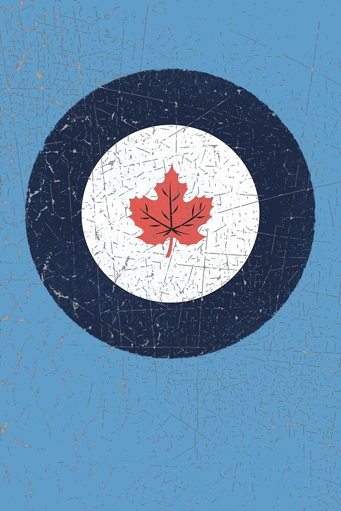 Vintage Look WW2 Royal Canadian Air Force Roundel by VintageSpirit