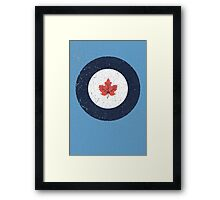 Vintage Look WW2 Royal Canadian Air Force Roundel Framed Print