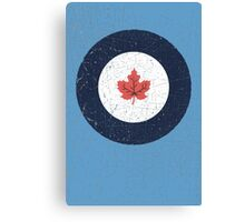 Vintage Look WW2 Royal Canadian Air Force Roundel Canvas Print