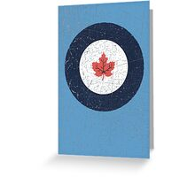 Vintage Look WW2 Royal Canadian Air Force Roundel Greeting Card