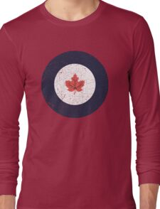 Vintage Look WW2 Royal Canadian Air Force Roundel Long Sleeve T-Shirt