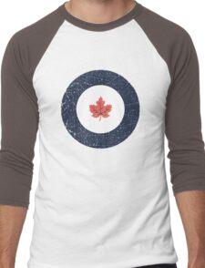 Vintage Look WW2 Royal Canadian Air Force Roundel Men's Baseball ¾ T-Shirt