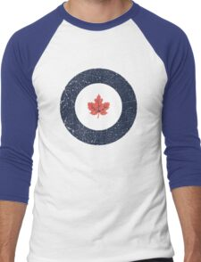 Vintage Look WW2 Royal Canadian Air Force Roundel Men's Baseball ¾ T-Shirt