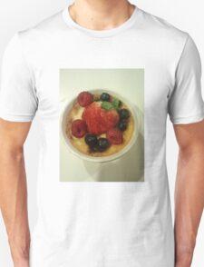 Creme Brûlée and Berries  Unisex T-Shirt