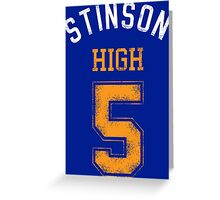 STINSON HIGH 5 (second version) Greeting Card