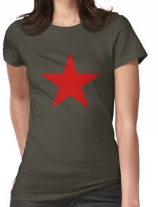 Vintage Look Russian Red Star Womens Fitted T-Shirt