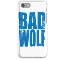 BAD WOLF (BLUE) iPhone Case/Skin