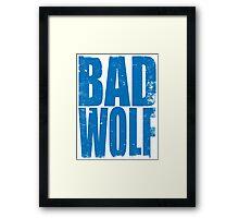 BAD WOLF (BLUE) Framed Print