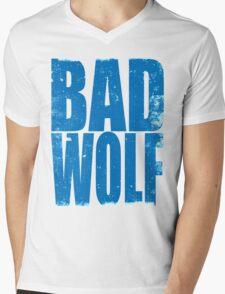 BAD WOLF (BLUE) Mens V-Neck T-Shirt