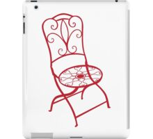 BISTRO FOLDING CHAIR - red iPad Case/Skin