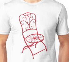 BISTRO FOLDING CHAIR - red Unisex T-Shirt